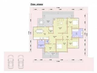 Проектный план первого этажа:  в . Автор – ООО 'Студия Клееного Бруса'