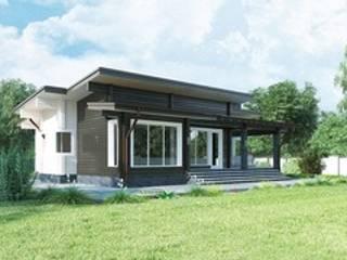 Проект одноэтажного деревянного дома «Горячий ключ» : Деревянные дома в . Автор – ООО 'Студия Клееного Бруса'