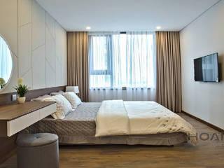 Những mẫu giường ngủ đẹp Phòng ngủ phong cách hiện đại bởi Thương hiệu Nội Thất Hoàn Mỹ Hiện đại