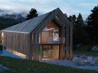 Dom na zboczu: styl , w kategorii  zaprojektowany przez KA Architekci