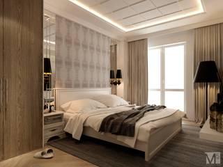 Проект CONTEMP: Спальни в . Автор – M5 studio,