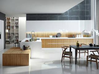 Isoko Proyecto Встроенные кухни Изделия из древесины Эффект древесины