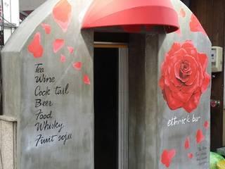 실외 벽화 프로젝트 모던 스타일 바 & 클럽 by 디자인브라더스 모던