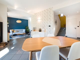 Nouvel intérieur pour une villa gardoise: Salle à manger de style  par Kty.L Décoratrice d'intérieur UFDI