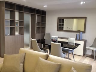 Contemporary flat Welchome Interior Design London Ruang Makan Modern
