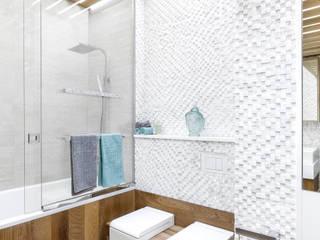 Современная квартира в Москве: Ванные комнаты в . Автор – artzona.ru