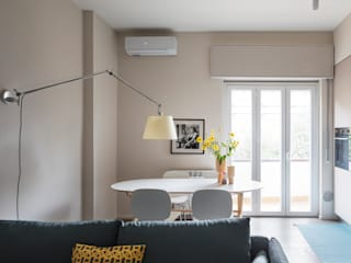 Bilocale per single Sala da pranzo eclettica di Euga Design Studio Eclettico