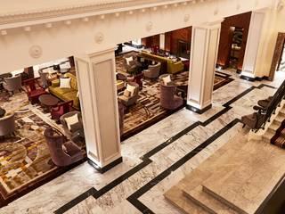 Classic corridor, hallway & stairs by Ferreira de Sá Classic