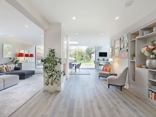 Richmond Family Home Modern living room by PAD ARCHITECTS Modern