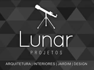 Novo apto da Empresária: Salas de estar  por Lunar Projetos,Moderno