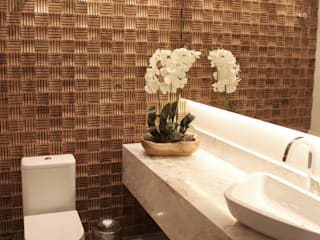 Suelen Kuss Arquitetura e Interiores Modern Bathroom Wood Wood effect