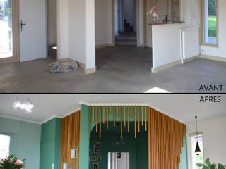 Aménagement et décoration d'une maison à Couzon-au-Mont-d'Or par Koya Architecture Intérieure Moderne