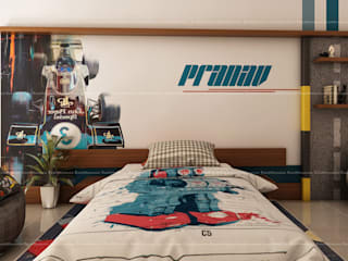 Kid's bedroom designs Modern style bedroom by Fabmodula Modern