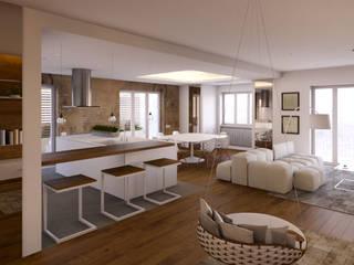Abitazione Privata T1: Ingresso & Corridoio in stile  di Architetto Adalberto Pacillo, Scandinavo Legno Effetto legno