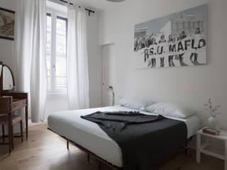 No.Lo. Flat Filippo Colombetti, Architetto Dormitorios de estilo escandinavo Blanco