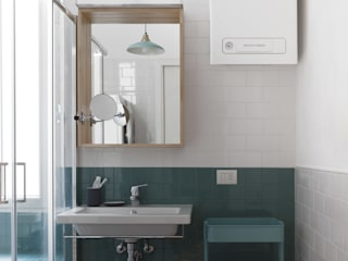 No.Lo. Flat Filippo Colombetti, Architetto Scandinavian style bathroom Ceramic Green