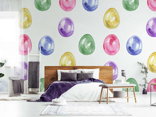 Easter Time Pixers Scandinavian style bedroom Multicolored