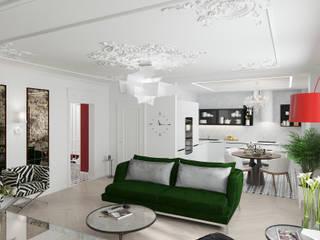 общая зона гостиной и кухни: Гардеробные в . Автор – Студия дизайна Светланы Исаевой