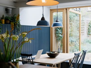 View across kitchen to dining room: eclectic Dining room by Mustard Architects