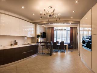 Кухня-столовая:  в . Автор – Дизайн-студия интерьера и ландшафта 'Деметра'