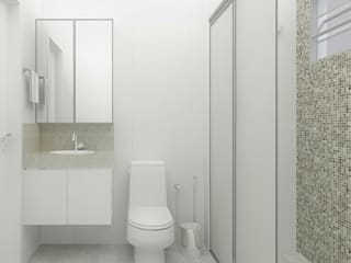 Apto MA Banheiros modernos por Natália Parreira Design de Interiores e Paisagismo Moderno