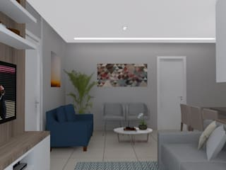 Sala MT Salas de estar modernas por Natália Parreira Design de Interiores e Paisagismo Moderno