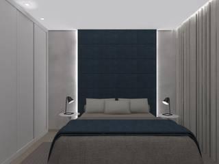 Quarto GP Quartos modernos por Natália Parreira Design de Interiores e Paisagismo Moderno