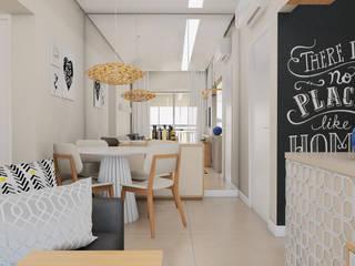 PROJETO APÊ ADO Salas de jantar modernas por TAED ARQUITETURA Moderno