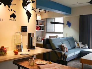 Dining room by 勁懷設計, Modern
