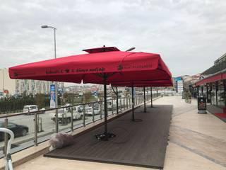 Akaydın şemsiye Front yard Aluminium/Zinc Red