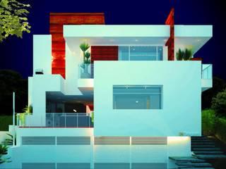 JACUHY HOUSE: Casas  por DECEM ARQUITETURA E PLANEJAMENTO,Moderno