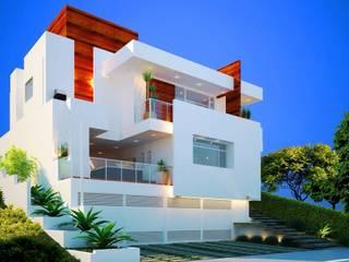 JACUHY HOUSE: Casas  por DECEM ARQUITETURA E PLANEJAMENTO,Minimalista