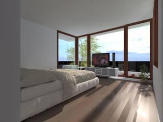CASA ERRAZURIZ-HUECHURABA : Dormitorios de estilo  por Casabella