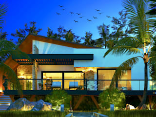 CONTEMPORARY COUNTRY HOUSE por DECEM ARQUITETURA E PLANEJAMENTO Tropical