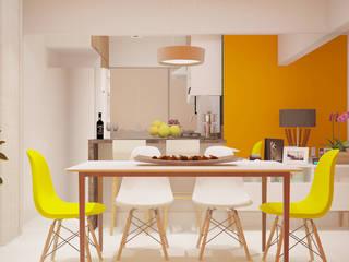 Comedores de estilo moderno de SCK Arquitetos Moderno