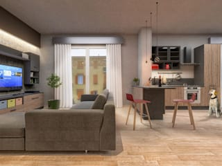 Modern living room by Damiano Ferrando | Architectural Visualization | Modern
