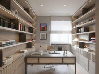 ห้องทำงาน/อ่านหนังสือ by Katarzyna Kraszewska Architektura Wnętrz