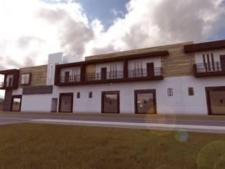 Departamentos Comerciales Y Locales: Casas de estilo  por Bocetos Studio Aquitectos, Moderno