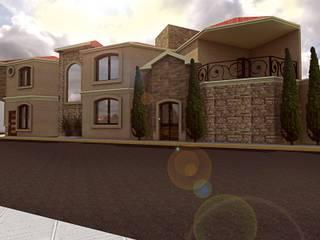 Casa residencial E&A: Casas de estilo  por Bocetos Studio Aquitectos, Colonial