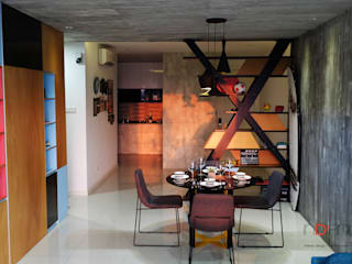 Industrial Contemporary condo Industrial style dining room by inDfinity Design (M) SDN BHD Industrial