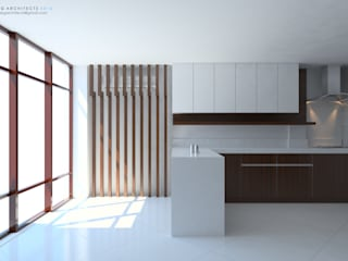 Interior Kitchen Design, Modern Minimalist:  Kitchen by  ABG Architects and Builders