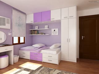 Interior works: Bedroom:  Bedroom by  ABG Architects and Builders