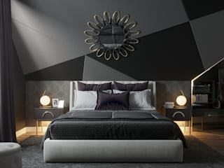 'PRimeART' Eclectic style bedroom Multicolored