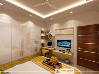 DDA flat at Vasant Kunj Minimalist nursery/kids room by Design Essentials Minimalist