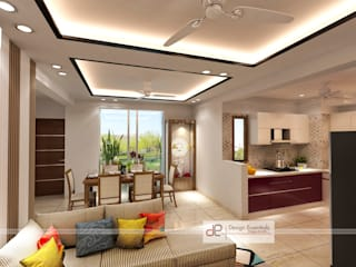 DDA flat at Vasant Kunj:  Dining room by Design Essentials