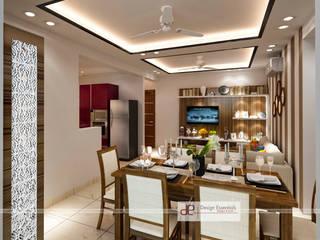 DDA flat at Vasant Kunj Minimalist dining room by Design Essentials Minimalist