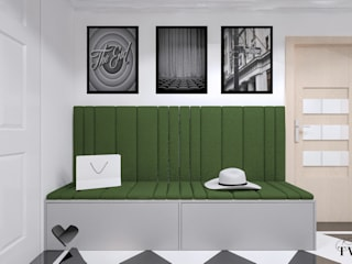 Modern Corridor, Hallway and Staircase by Klaudia Tworo Projektowanie Wnętrz Sp. z o.o. Modern