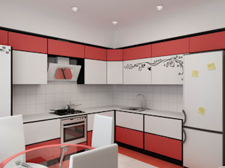 Авангард. Дизайн частного дома: Кухни в . Автор – Цунёв_Дизайн. Студия интерьерных решений.