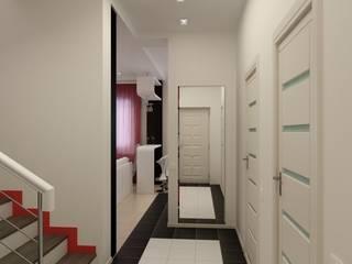 隨意取材風玄關、階梯與走廊 根據 Цунёв_Дизайн. Студия интерьерных решений. 隨意取材風