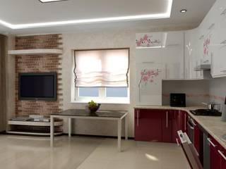 Цунёв_Дизайн. Студия интерьерных решений. Dapur Modern Multicolored